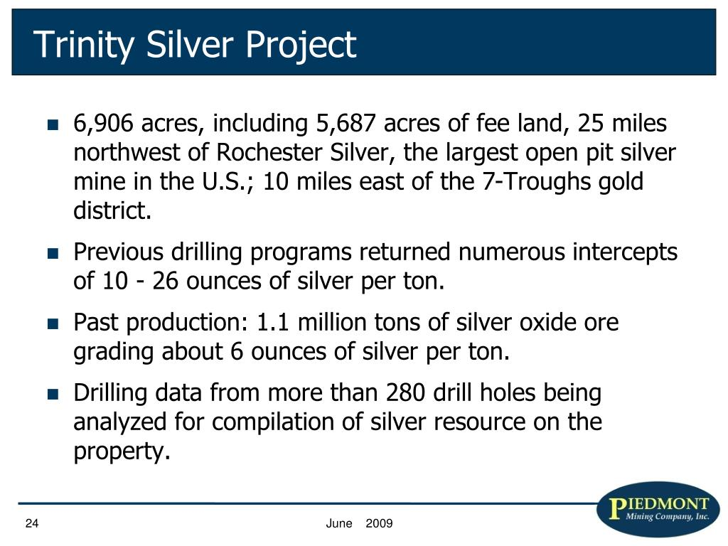 Trinity Silver Project