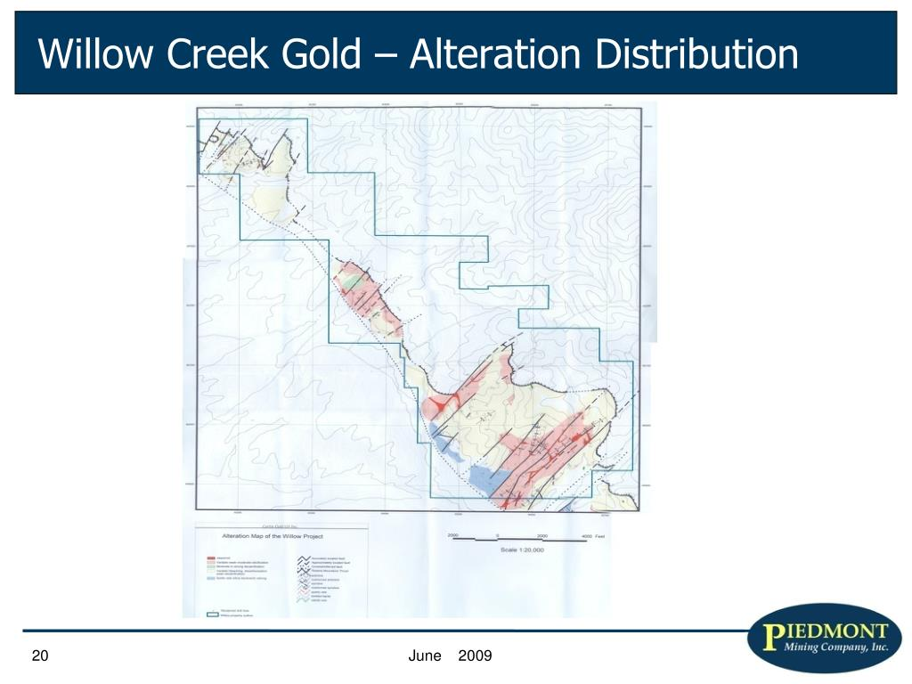 Willow Creek Gold – Alteration Distribution