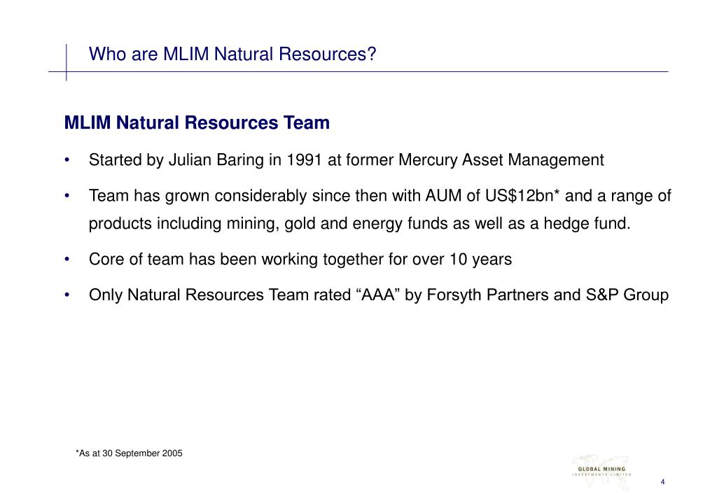 Who are MLIM Natural Resources?