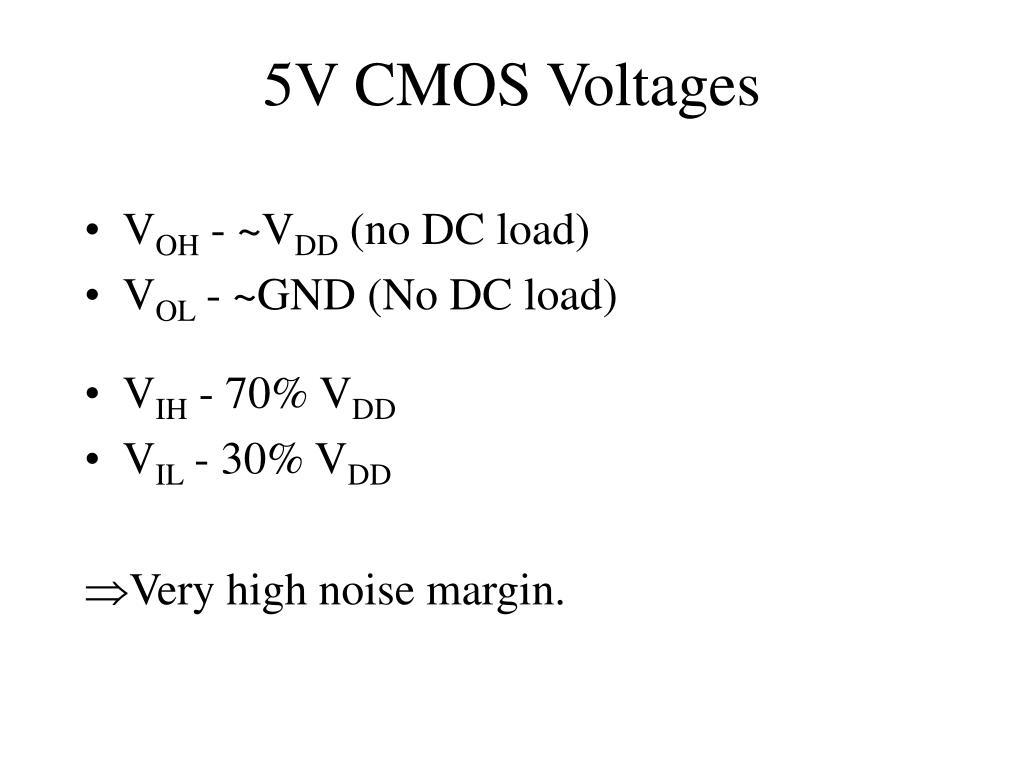 5V CMOS Voltages