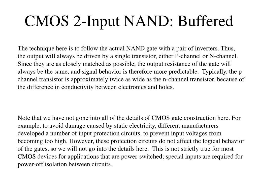 CMOS 2-Input NAND: Buffered