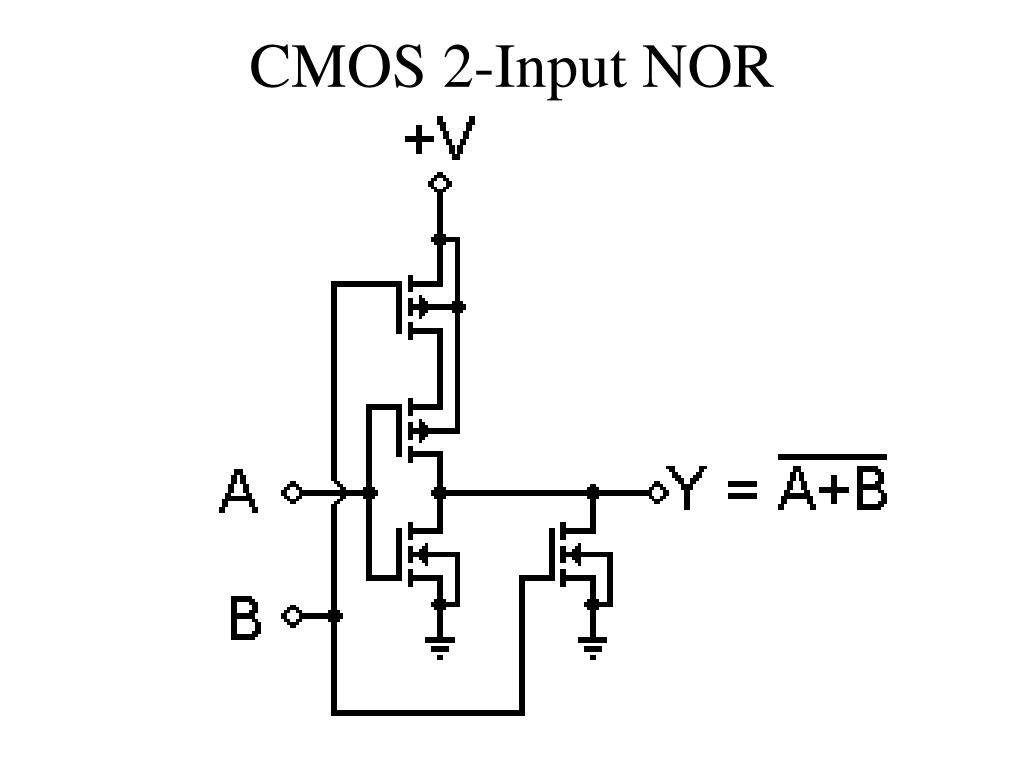 CMOS 2-Input NOR