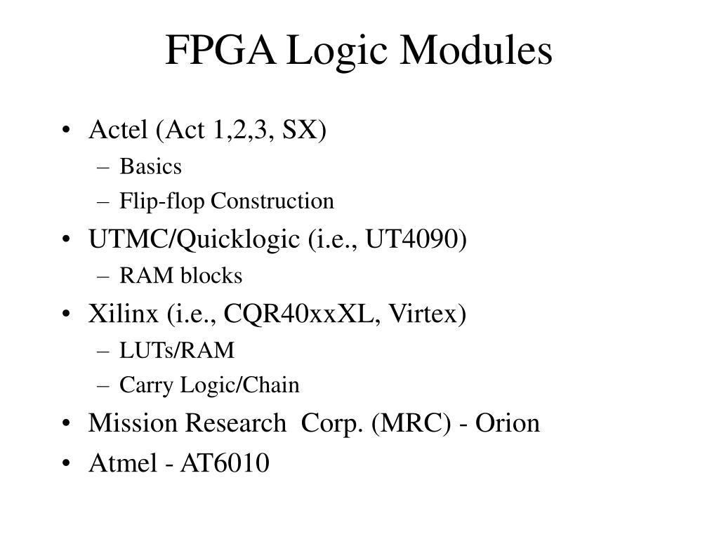 FPGA Logic Modules