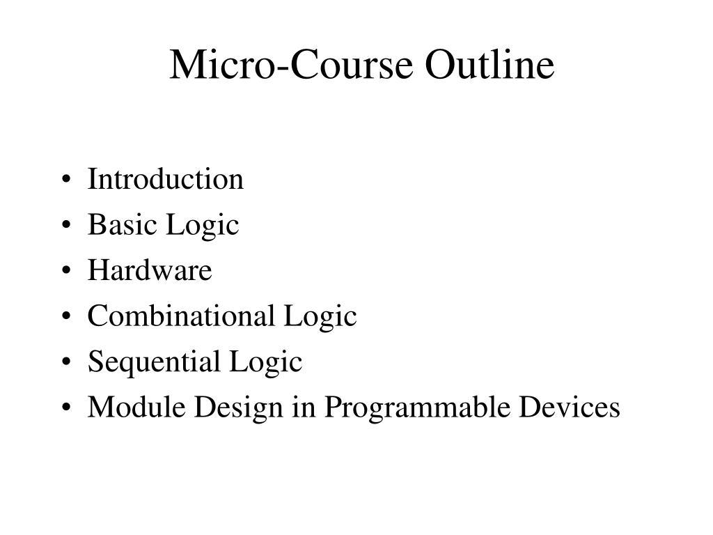 Micro-Course Outline