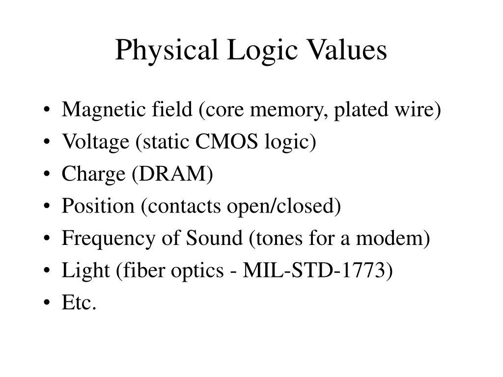 Physical Logic Values