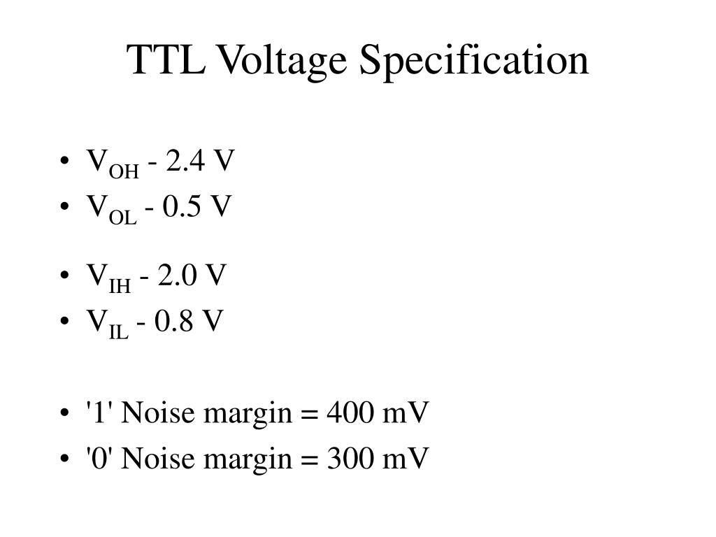 TTL Voltage Specification