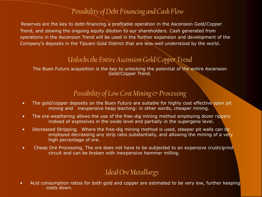 Possibility of Debt Financing and Cash Flow