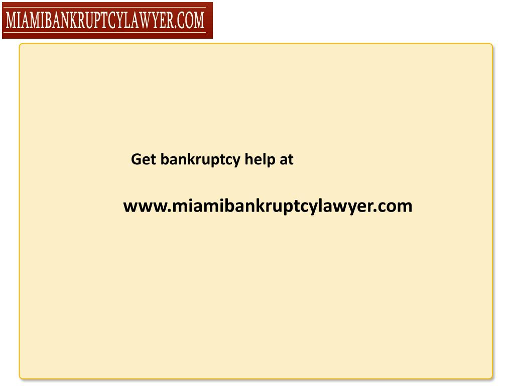 Get bankruptcy help at