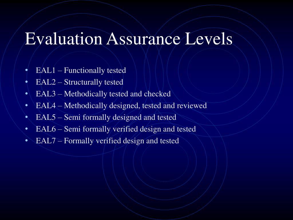 Evaluation Assurance Levels