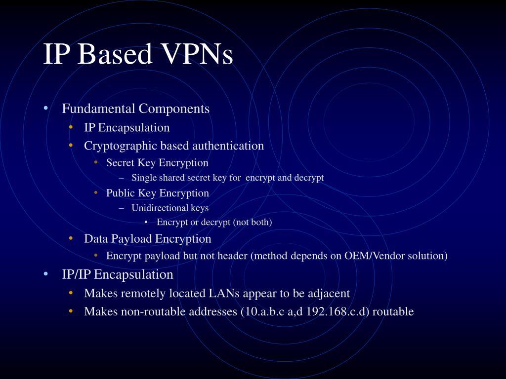 IP Based VPNs