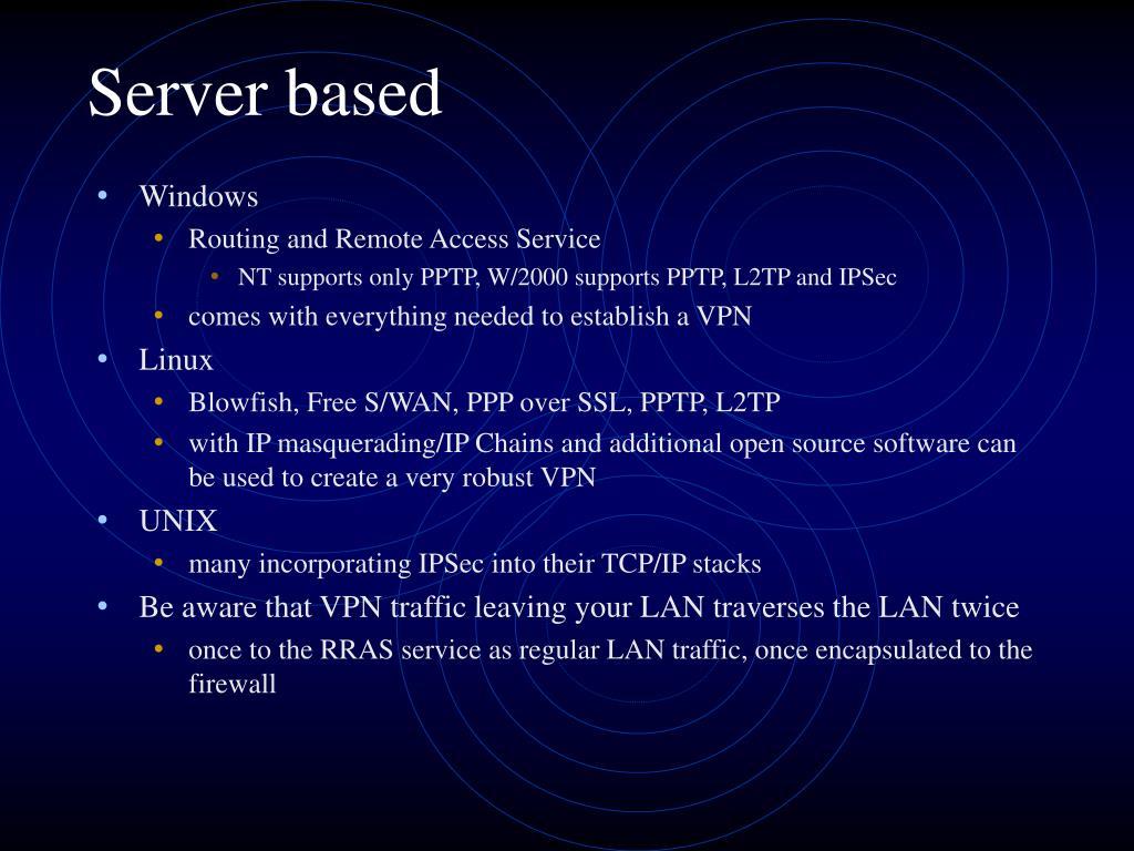 Server based