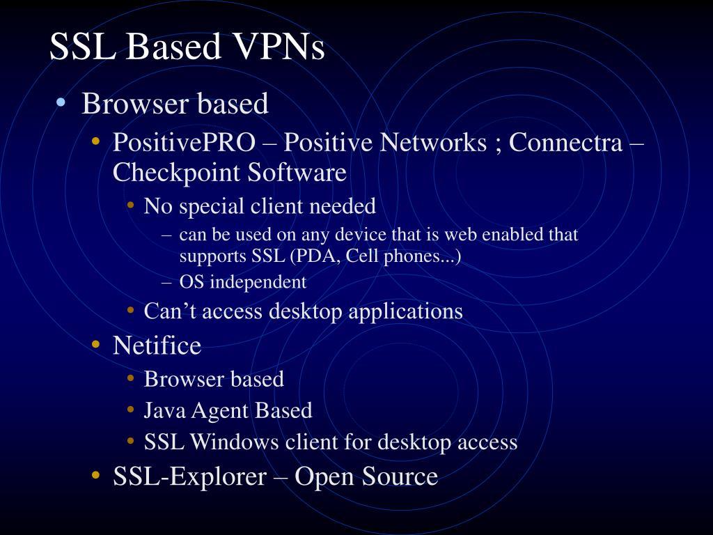 SSL Based VPNs