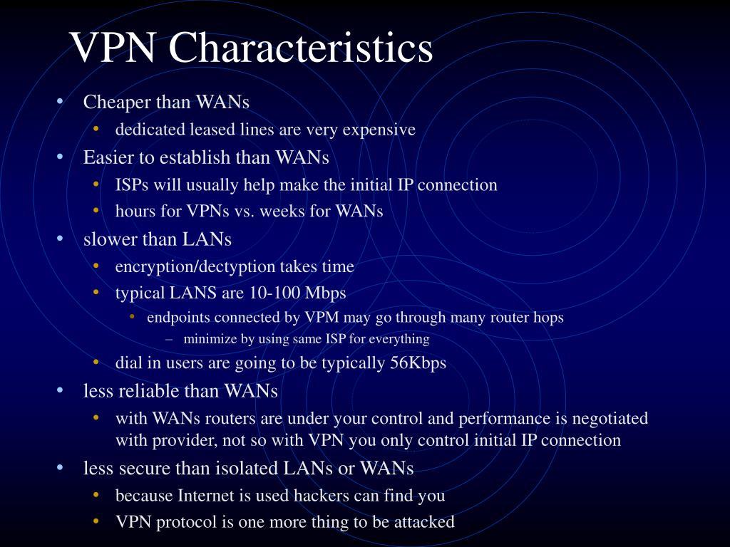 VPN Characteristics