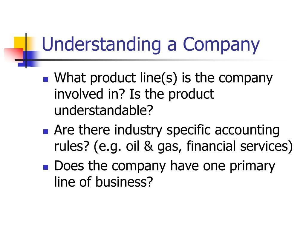 Understanding a Company
