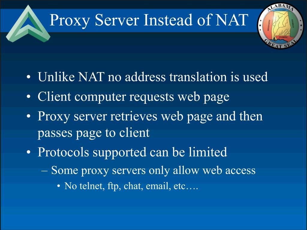 Proxy Server Instead of NAT