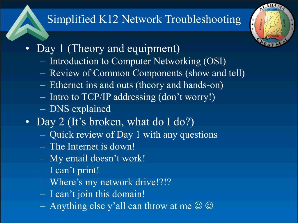Simplified K12 Network Troubleshooting