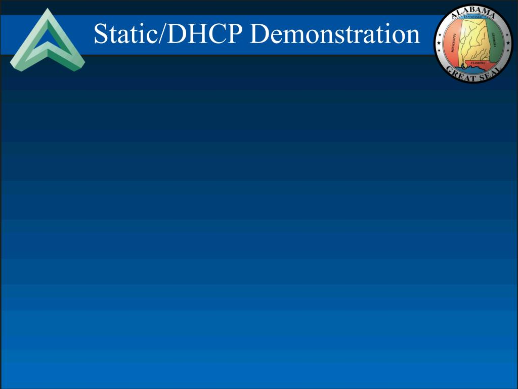 Static/DHCP Demonstration