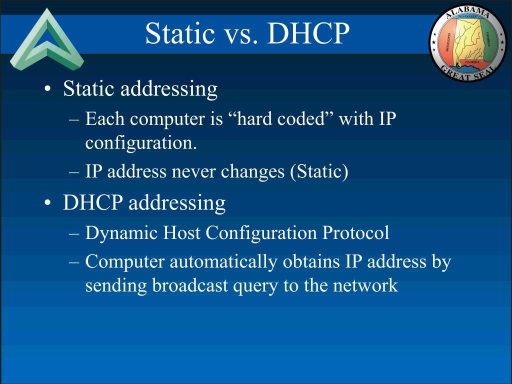 Static vs. DHCP