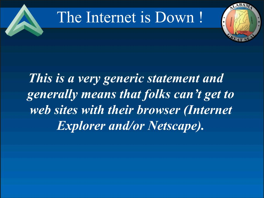 The Internet is Down !