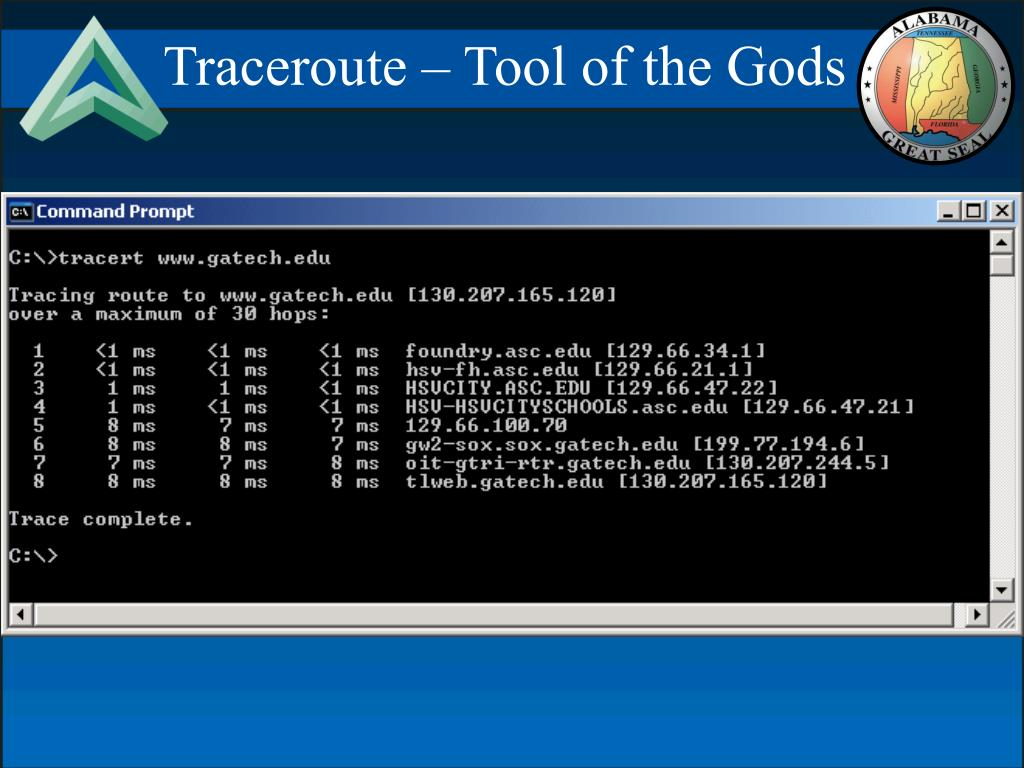 Traceroute – Tool of the Gods
