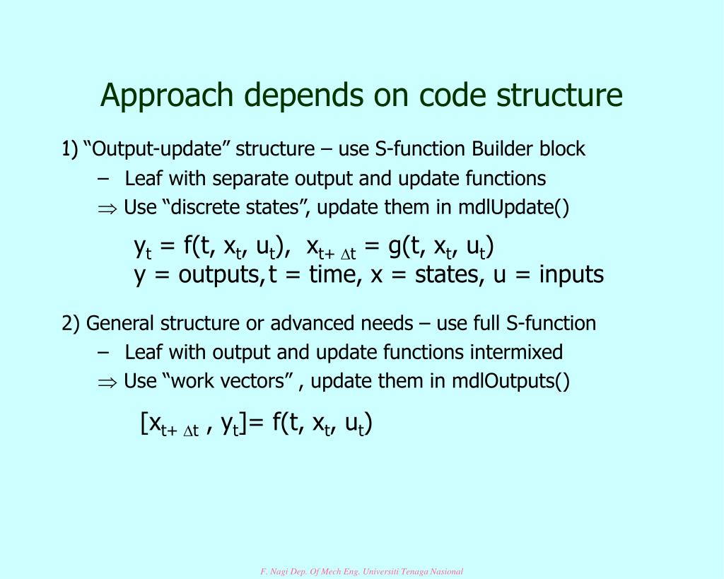 Approach depends on code structure