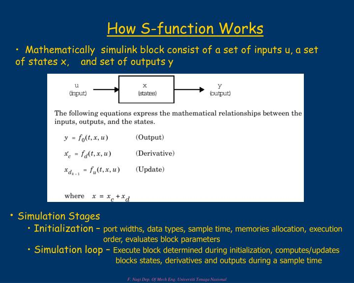 How S-function Works