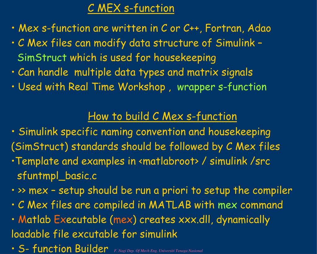C MEX s-function