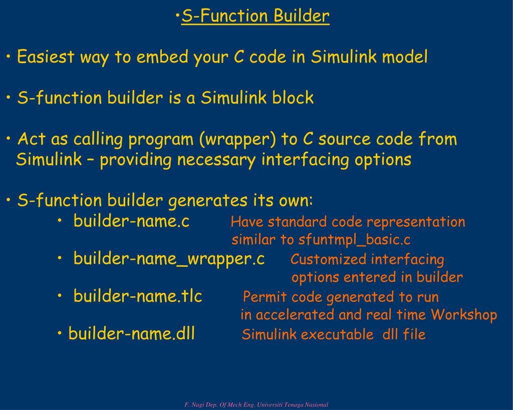S-Function Builder
