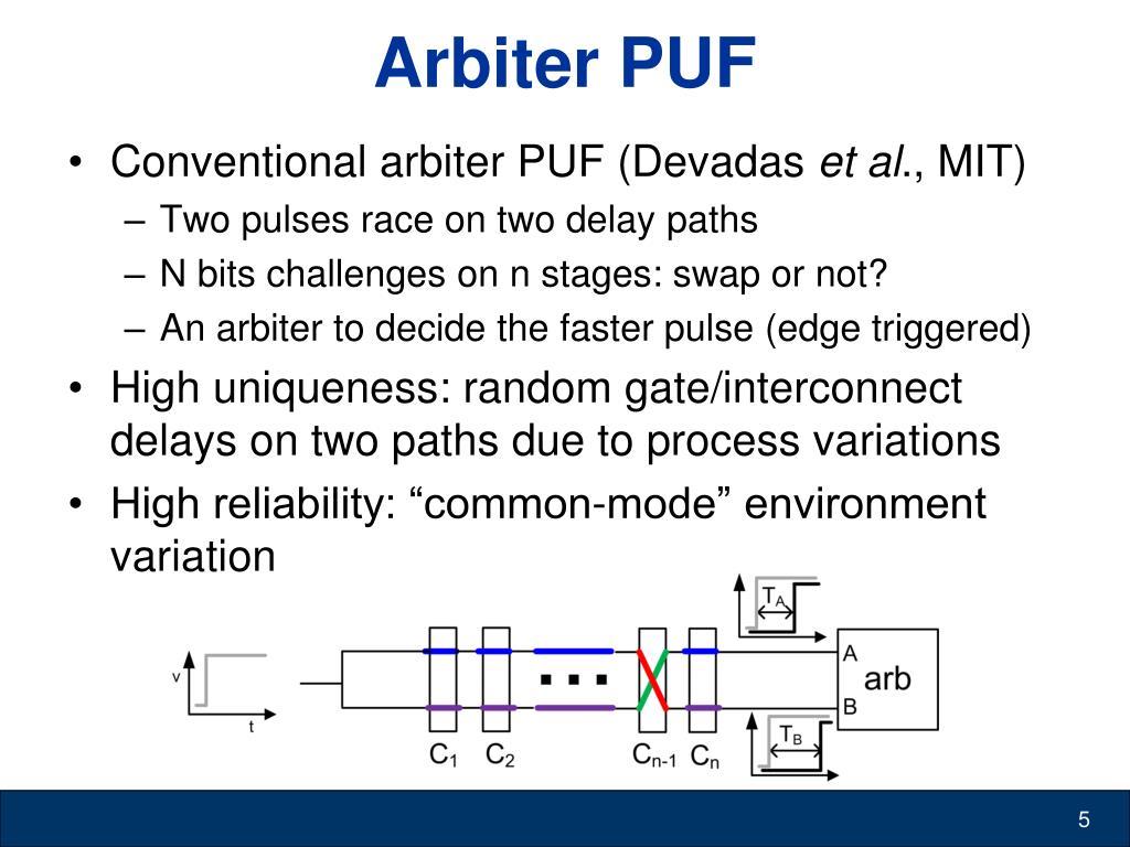 Arbiter PUF