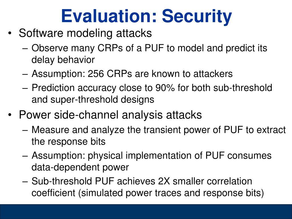 Evaluation: Security
