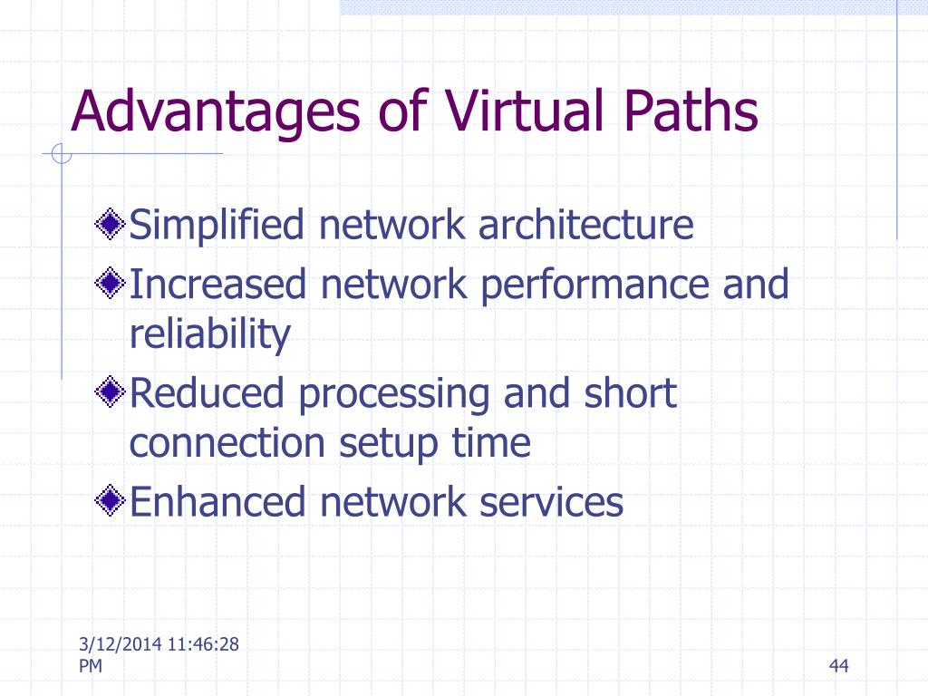 Advantages of Virtual Paths