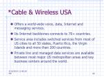 cable wireless usa