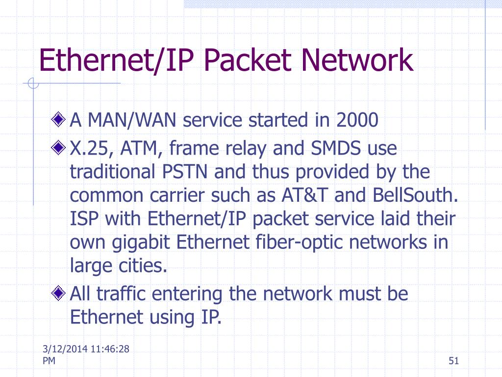 Ethernet/IP Packet Network