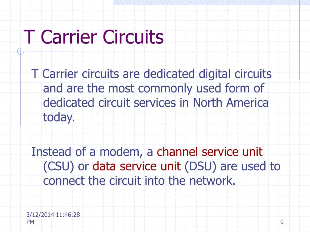 T Carrier Circuits