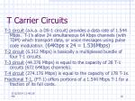 t carrier circuits10