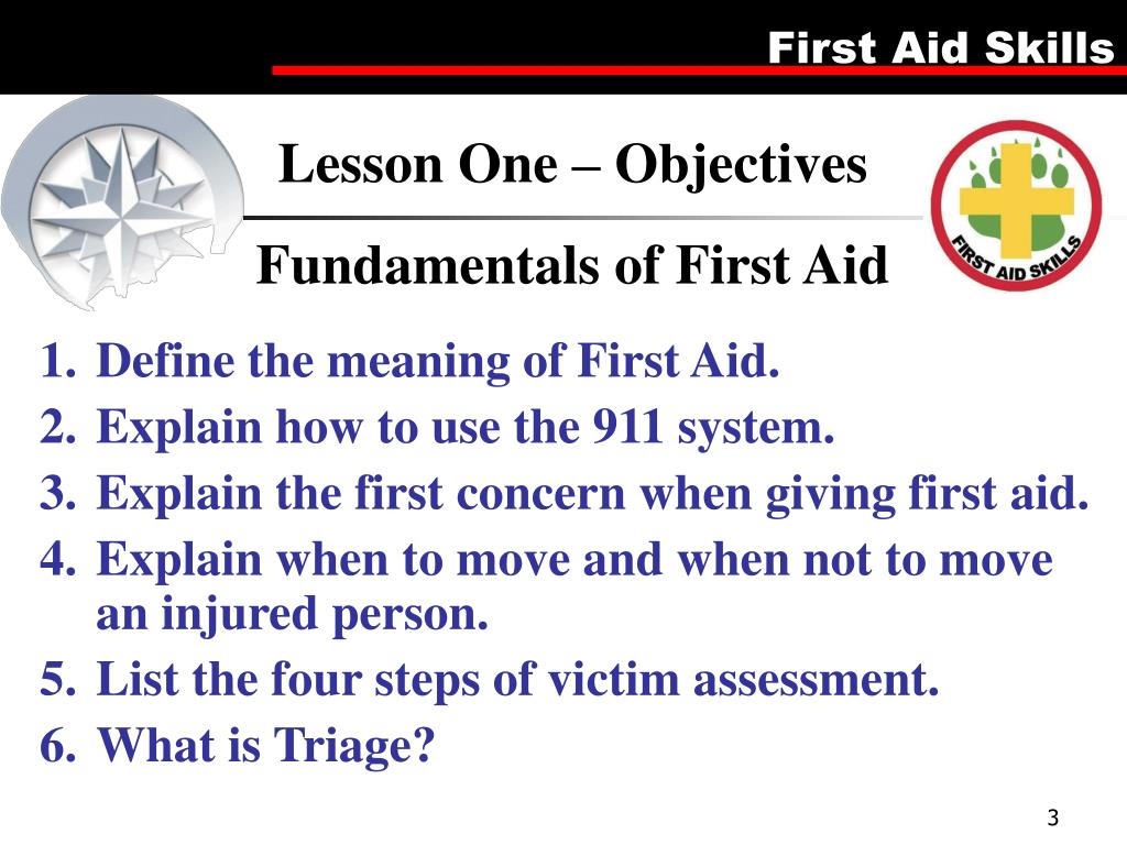 Lesson One – Objectives
