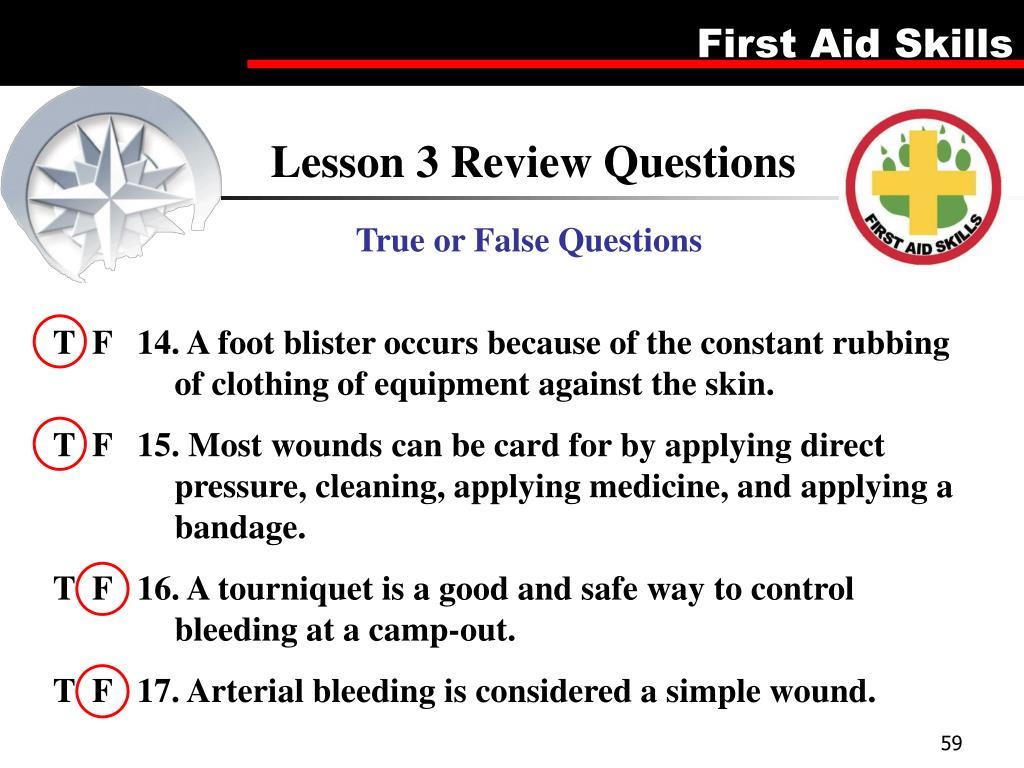 Lesson 3 Review Questions