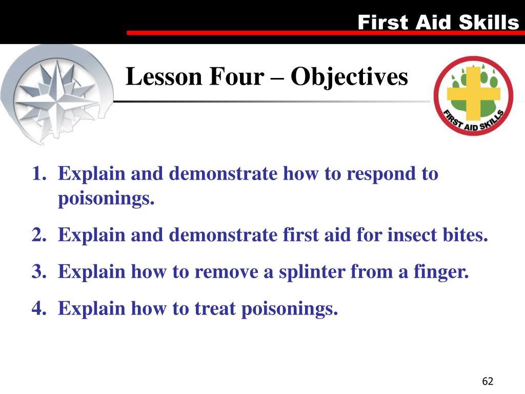 Lesson Four – Objectives