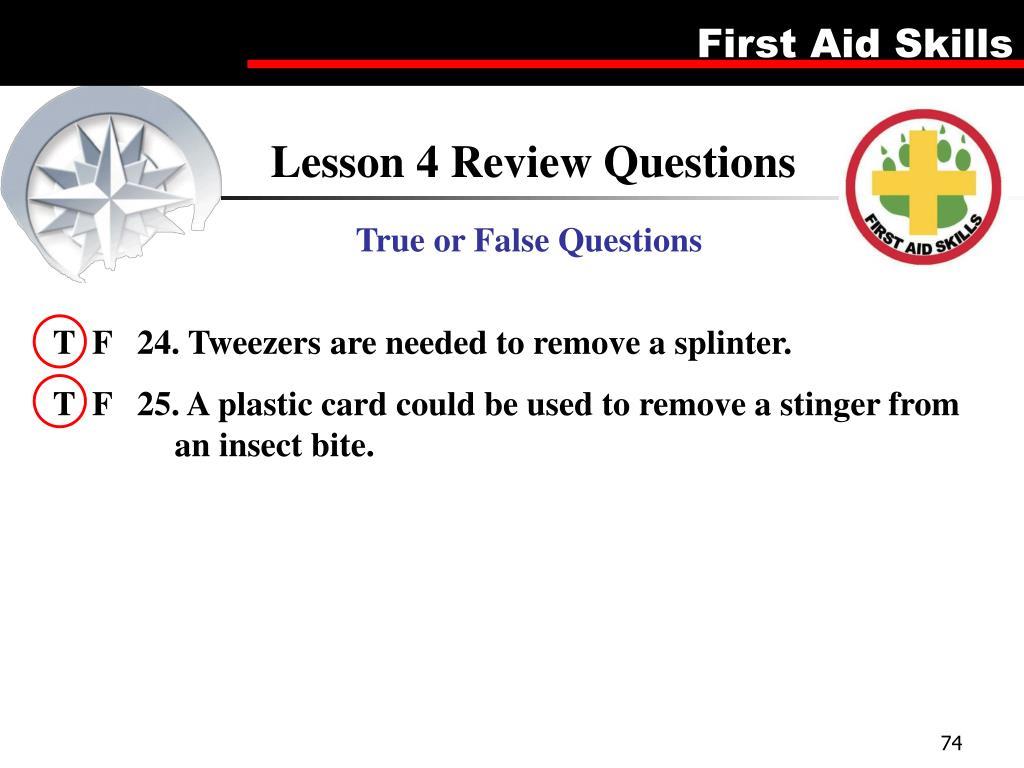 Lesson 4 Review Questions