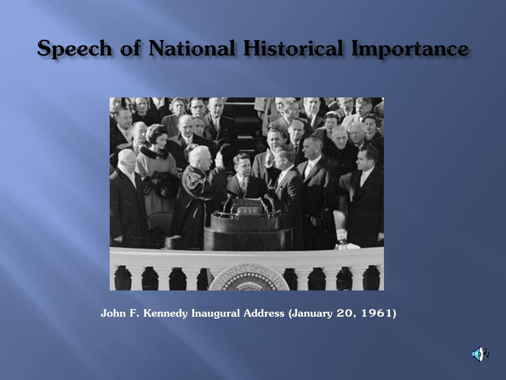 Speech of National Historical Importance