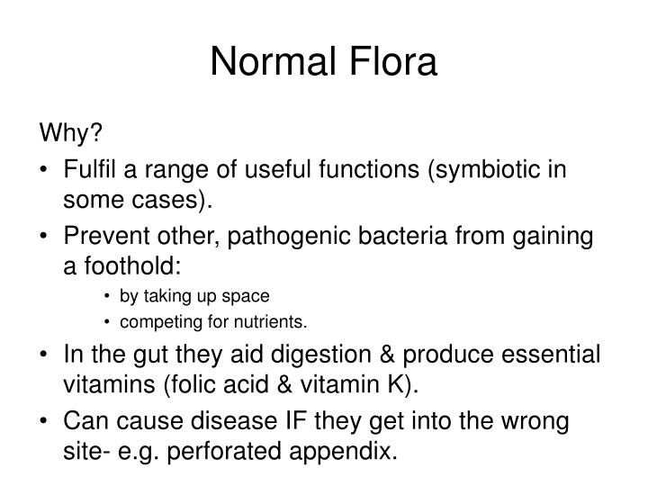 normal flora lab These are general values taken from a variety of sources the actual normal values may vary from lab to lab and from one type of testing protocol to another.
