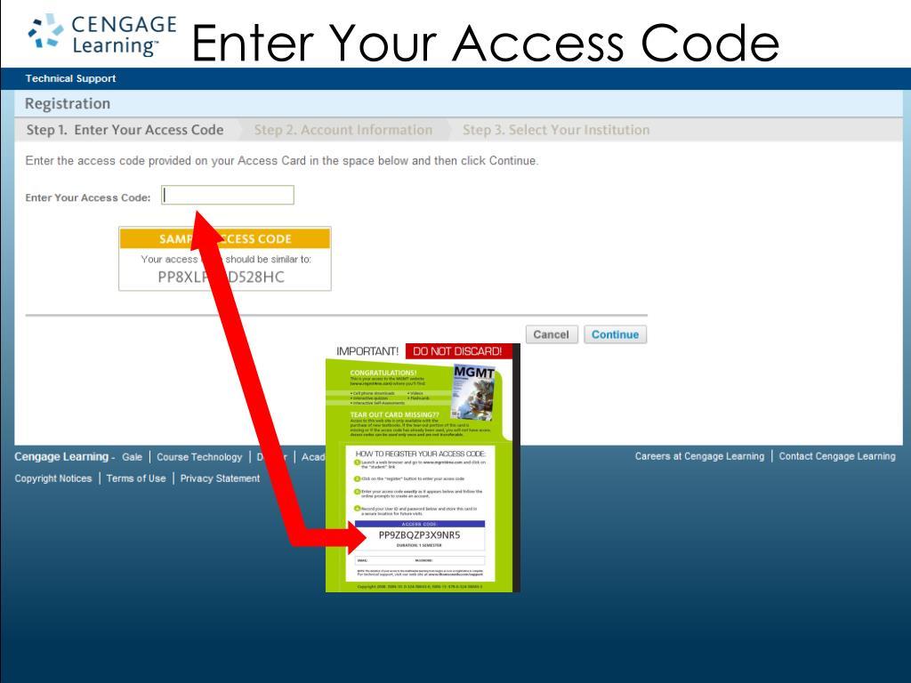 Enter Your Access Code