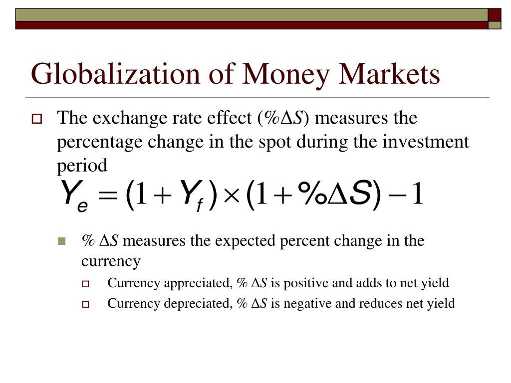 Globalization of Money Markets