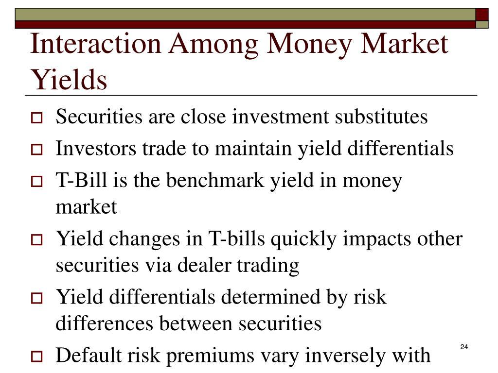 Interaction Among Money Market Yields