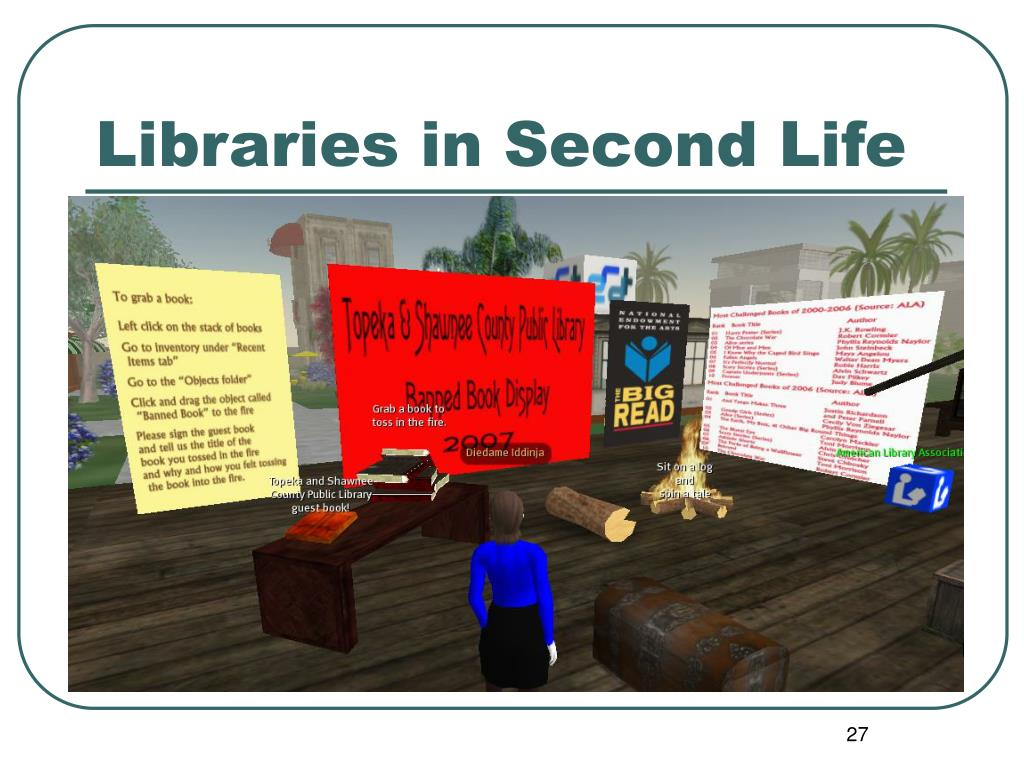 Libraries in Second Life