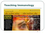 teaching immunology