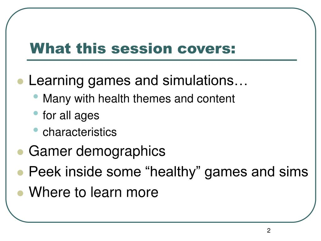 What this session covers: