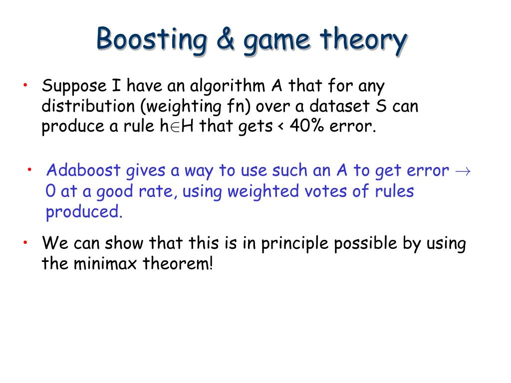 Boosting & game theory