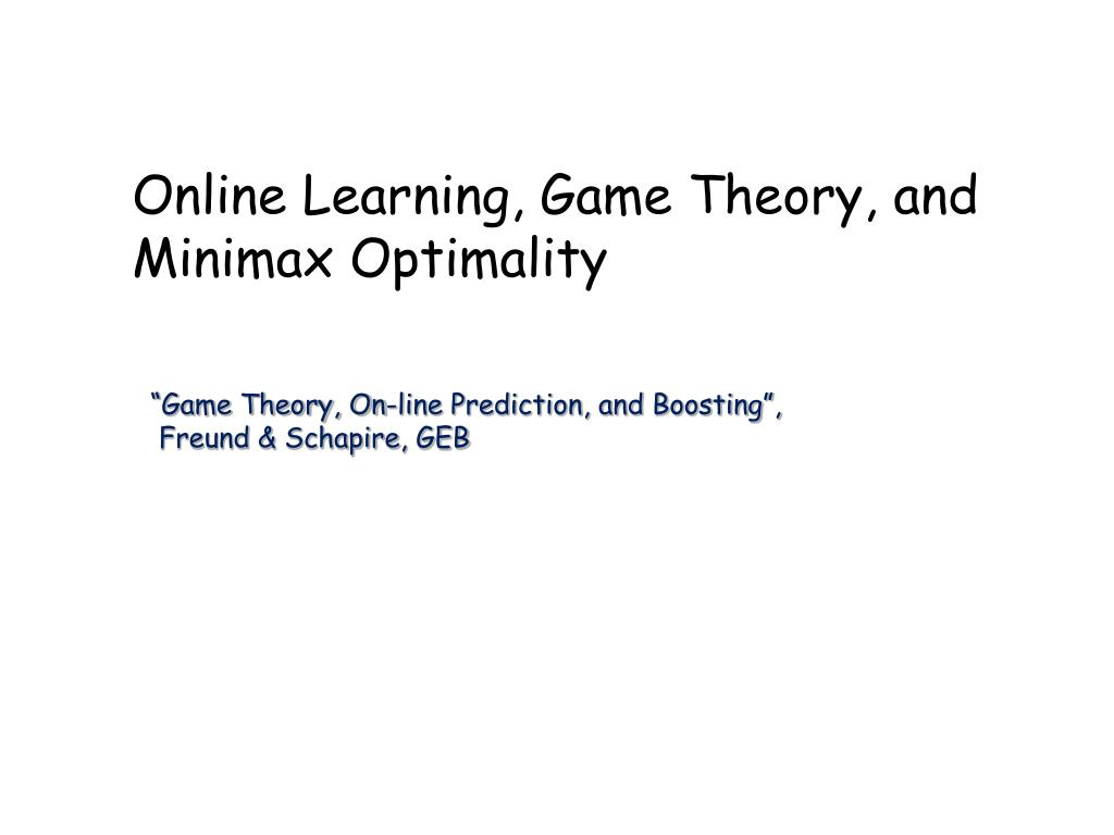 Online Learning,