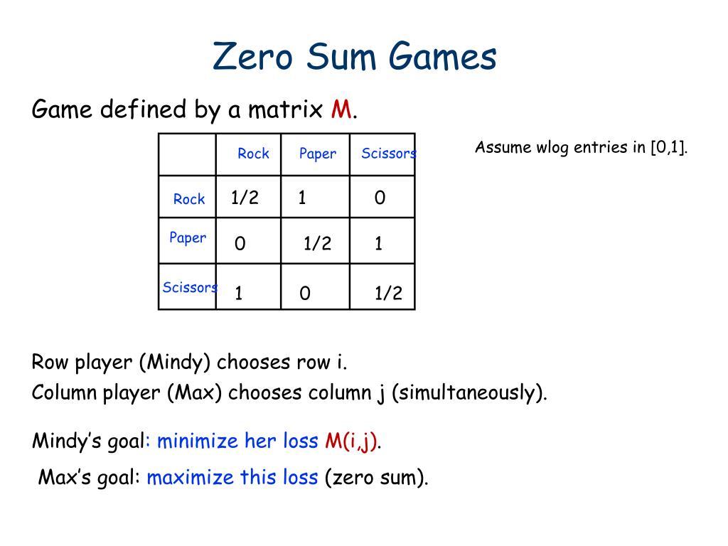 Zero Sum Games